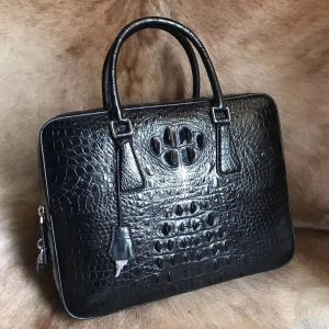Men's Crocodile Pattern Satchel Bag