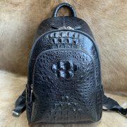 Casual Crocodile Leather Backpack