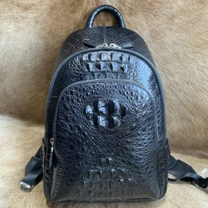 Casual Crocodile Leather Backpack