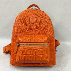 Lady Crocodile Hornback Leather Colorful Backpack