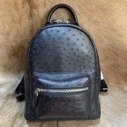 Leather Bags China Ostrich Pattern Backpack
