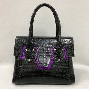 Ladies Alligator Belly Full Leather Handbag