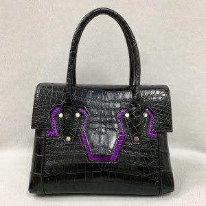 Ladies Alligator Belly Full Leather Handbag