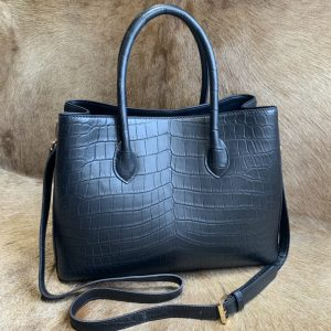 Alligator Leather Tote Handle Bag