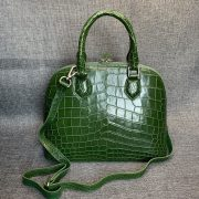 Alligator Double Handle Shell Bag Tote Bag