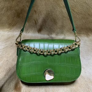 Genuine Alligator Leather Cross Body Bag