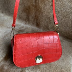 Luxurious Textured Alligator Leather Hand Bag