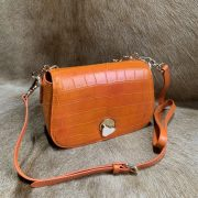 Luxurious Alligator Pattern Hand Bag