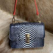Natural Python Leather Handbag