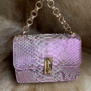 Fashion Python Skin Clutch Wallet Sling Bag