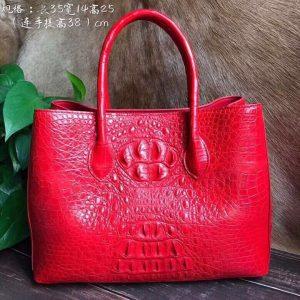 Top Handle Crocodile Handbag