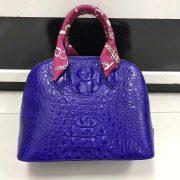 Girls Big Shell Crocodile Handbag