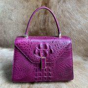 Crocodile Leather Stylish Buckle Handle Bags