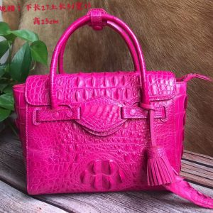 Genuine Crocodile Leather Tassels Tote Bag