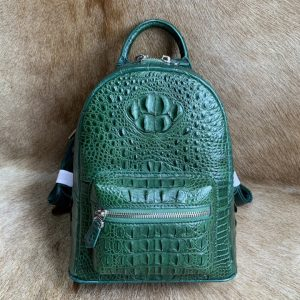Crocodile Grain Backpack Mini Rucksack