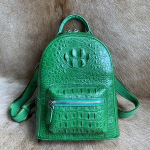 Women's Crocodile Shoulder Bag Casual Backpack