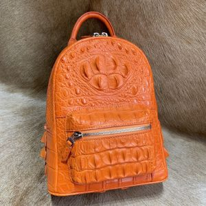 Fashion Crocodile Leather College Bookbag