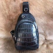 Smart Alligator Leather Anti-theft Backpack