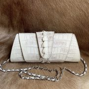 Crocodile Snap Clutch Bag