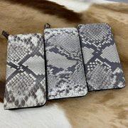 Python Leather Wallet Men Purse