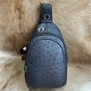 Ostrich Leather Crossbody Backpack