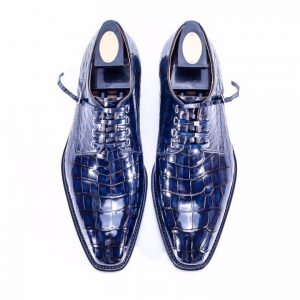 Handmade Classic Office Alligator Leather Dress Shoes