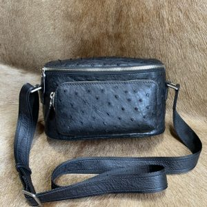 Ostrich Skin Shoulder Sling Bag