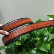 Brown Crocodile Skin Belt