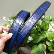 Blue Crocodile Leather Belts