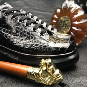 Men's Crocodile Exotic Lace Up Sneaker