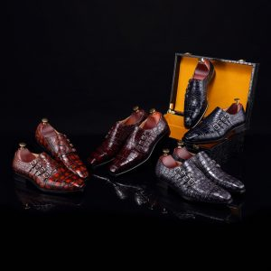 Men's Crocodile Driving Style Loafers