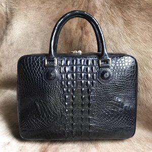 High Quality Crocodile Briefcase