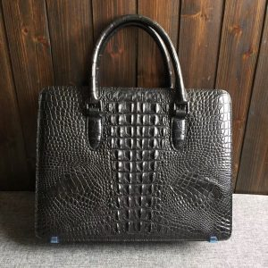 Crocodile Skin Men Handbag Computer Bags