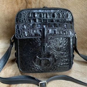 Crocodile Skin man shoulder bag