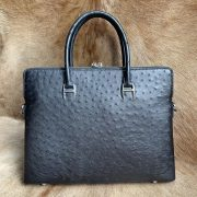 Full Grain Ostrich Leather Document Bag