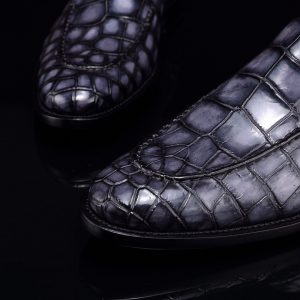 Crocodile Mens Loafers Leather Luxury Shoes