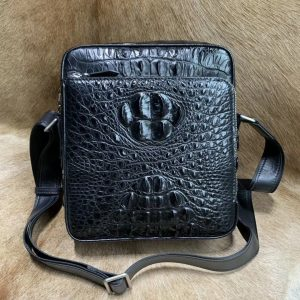 Genuine Crocodile Leather Single Shoulder Bag