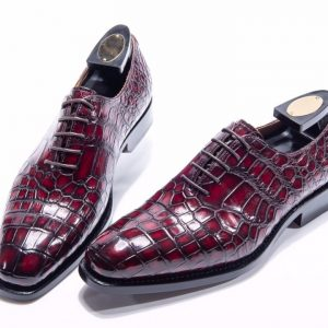 Genuine Crocodile Lace Up Oxford Shoe