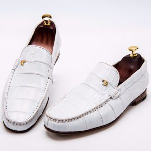 Men's Penny Loafers Crocodile Boat Shoes