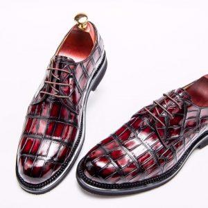 Men's Crocodile Leather Derby Comfortable Classic Shoes
