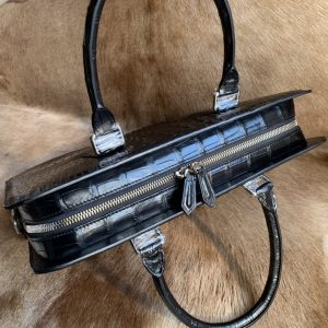 Mens Genuine Crocodile Leather Briefcase