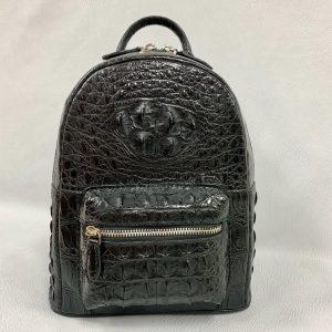 Lady Crocodile Hornback Leather Colorful Backpack