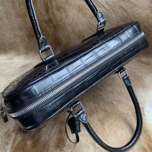 Business Handbag Crocodile Genuine Leather