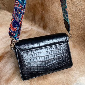 Colorful Chain Alligator Leather Shoulder Bags