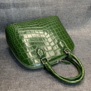 Alligator Double Handle Shell Bag Tote Bag