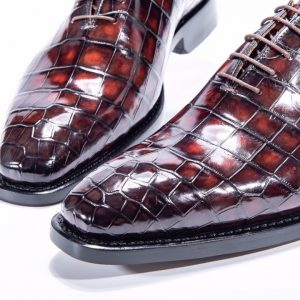 Alligator Print Genuine Leather Fashion Pointed Men