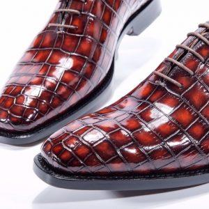 High-grade Alligator Belly Skin Custom Shoes