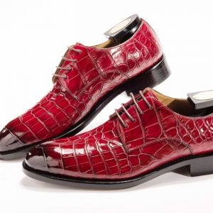 Exotic Men's Crocodile Derby Shoe