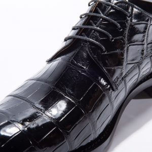 Men's Genuine Crocodile Leather Lace Up Shoes