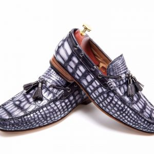 Real Crocodile Leather Tassel Loafers Crocodile Print Shoes